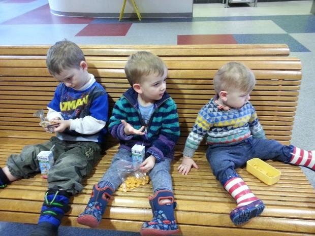 The three amigos at the Ontario Science Centre