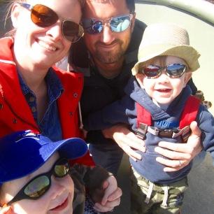 A rare family selfie